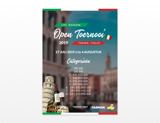 Open toernooi 2019 poster