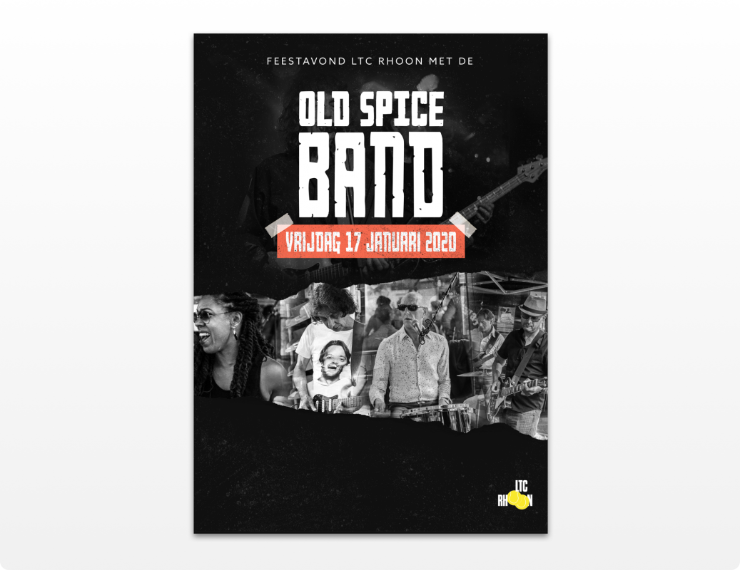 Old spice band poster